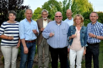 (v.l.) Annegret Splietker, Hans-Martin Leskovsek, Hermann Josef Budde, Ludger Vollenkemper, Heinrich Splietker, Waltraud Leskovsek, Dieter Linnenbrink